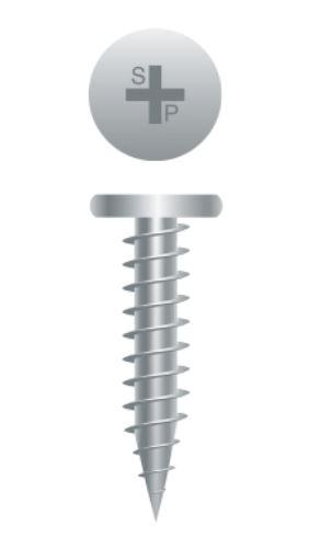Pancake Head Sharp Point Screws